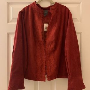 NWT THE LIMITED COLLECTION merlot faux leather